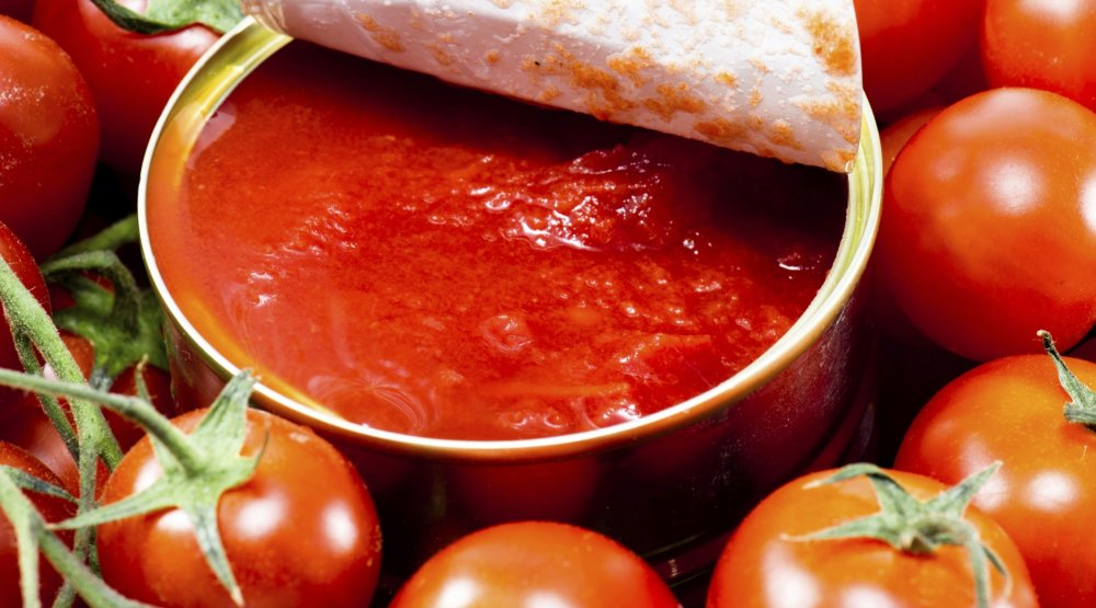 Tomates enlatados - alimentos propensos a causar cáncer