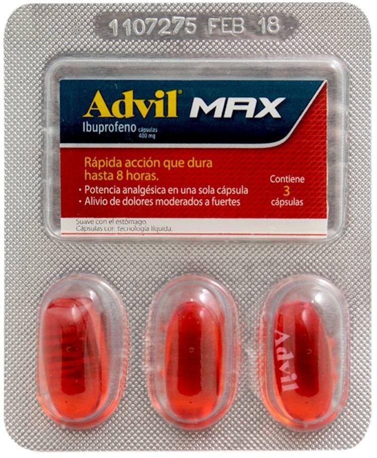 Advil Funciona Precio Efectos Secundarios Presentaciones