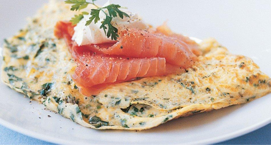Omelet de Salmón para artritis reumatoide